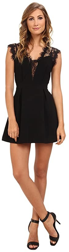 BCBGeneration Sleeveless V-Neck Shirt Cocktail Dress GEF68B66 (Black) Women's Dress