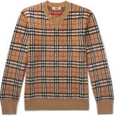 Burberry - Checked Brushed-Cashmere Sweater