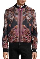 Versace Bold Ethnic Graphic Reversible Bomber Jacket
