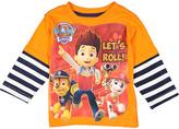 Children's Apparel Network PAW Patrol Orange 'Let's Roll' Layered Tee - Toddler