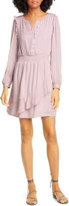 Dolan Christine Long Sleeve Smocked Waist Minidress
