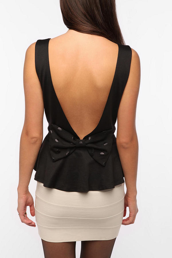 Urban Outfitters Pins and Needles Bow Back Peplum Tank Top