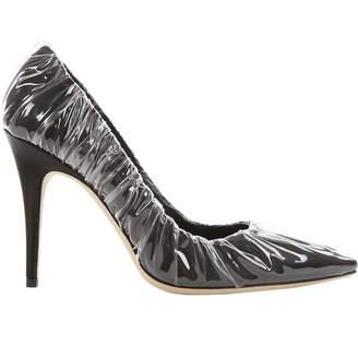 Jimmy Choo Black Plastic Heels