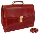 L.a.p.a. Cognac Leather Briefcase
