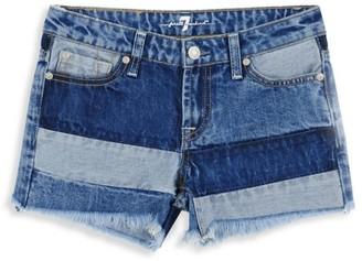 7 For All Mankind Little Girl's & Girl's Patchwork Denim Shorts