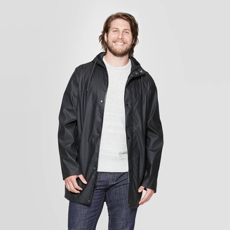 Men's Tall Relaxed Fit Hooded Rubberized Rain Jacket - Goodfellow & CoTM