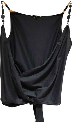 Paule Ka Black Cotton Top for Women
