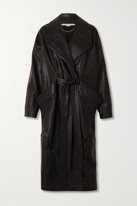 Stella McCartney Belted Vegetarian Leather Coat - Black