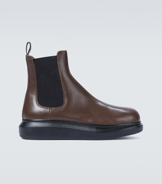 Alexander McQueen Hybrid leather Chelsea boots