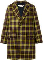 Marni tartan overcoat