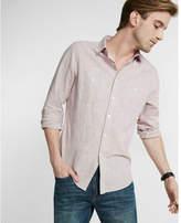 Express Linen-blend Button-up Shirt