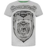 Gucci GUCCIBoys Grey Big Cat Print Top