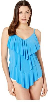 Magicsuit Solid DD Rita Tankini (Azure) Women's Swimwear
