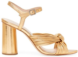 Loeffler Randall Cece Knotted Metallic Leather Sandals