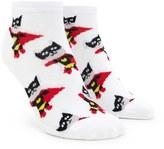 Forever 21 FOREVER 21+ Superhero Cat Print Ankle Socks