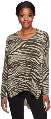 M Made in Italy Women's Missy Crewneck Printed Tunic