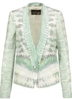 Roberto Cavalli Printed silk crepe de chine blazer