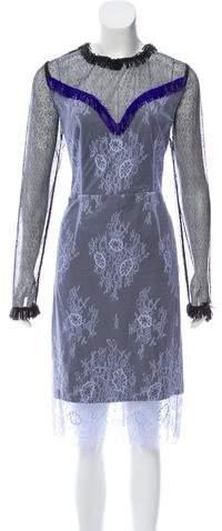 Diane von Furstenberg Embellished Lace Dress w/ Tags