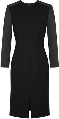 Cefinn Black stretch-cady and satin dress