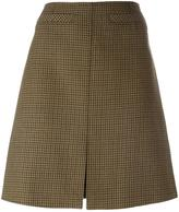 Courreges houndstooth patterned A-line skirt - women - Cupro/Wool - 34