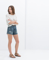 Mom-Fit Denim Shorts