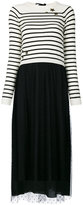 RED Valentino contrast knitted dress - women - Polyamide/Polyester/Spandex/Elastane/Wool - S