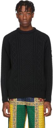 Noah NYC Black Fisherman Sweater