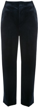 Vince Velvet Straight-Leg Trousers