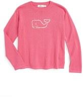 Vineyard Vines Girl's Metallic Whale Sweater