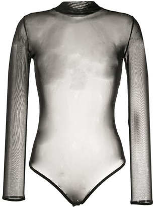Alchemy Sheer Mock-Neck Bodysuit