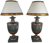 One Kings Lane Vintage Chinoiserie Painted Lamps - Set of 2 - teal/gold