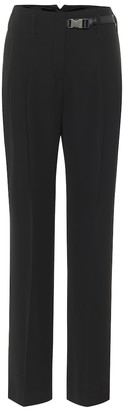 Prada High-rise nylon straight pants