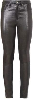 Rag & Bone Leather High-Rise Skinny Jeans