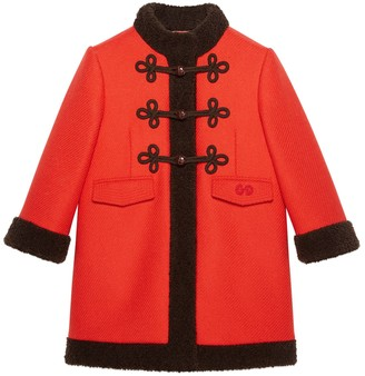 Gucci Petit wool coat with faux fur