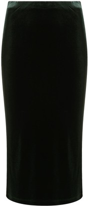 Antonella Rizza Velvet Pencil Skirt