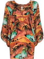 Oasis Chufy print batwing sleeve top