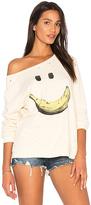Lauren Moshi Noleta Happy Banana Pullover in Yellow. - size L (also in S)