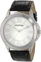 Unlisted Watches Men's UL1295 City Streets Roman Numeral Dial and Case Brown Strap Watch