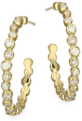 Ippolita Stardust 18K Yellow Gold & Diamond Hoop Earrings