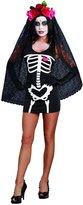 Dreamgirl Women's Sexy Skeleton Print DIY Costume Starter Dress
