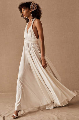 Twobirds Ginger Convertible Maxi Dress By Twobirds in White Size S