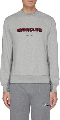 Moncler Logo velvet flock print sweatshirt