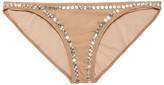 Thumbnail for your product : Norma Kamali Eric Studded Low-rise Bikini Briefs