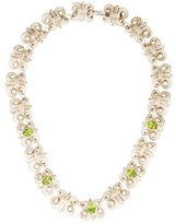 Lagos Two-Tone Peridot Link Collar Necklace