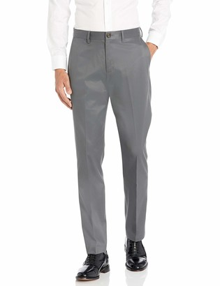 Buttoned Down Athletic Fit Non-iron Dress Chino Pant Dark Grey 40W x 28L
