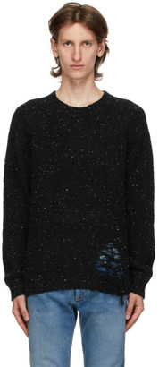 Maison Margiela Black Distressed Hem Sweater