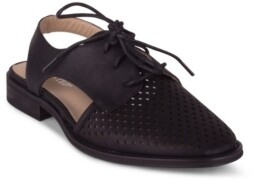 Wanted Koi Women's Perforated Detail Two Piece Oxford Women's Shoes