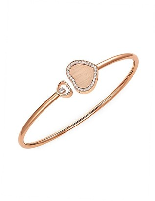 Chopard x 007 Happy Hearts - Golden Hearts 18K Rose Gold & Diamond Pave Limited Edition Bangle