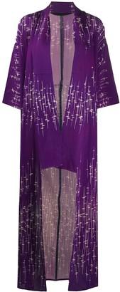 A.N.G.E.L.O. Vintage Cult 1970s Bamboo Print Kimono Coat