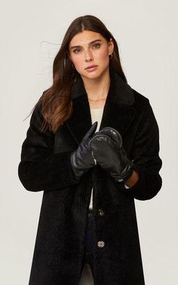 Soia & Kyo BETRICE faux fur lined leather mittens